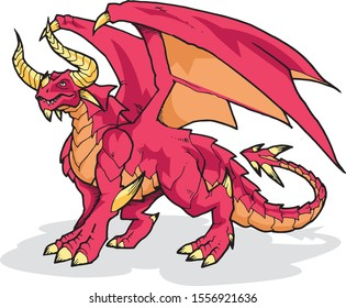 Dragon Animal Vector Illustration For Any Graphic Design project