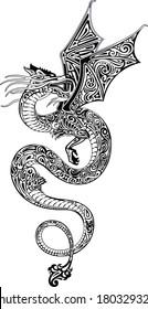 Dragon (black and white)