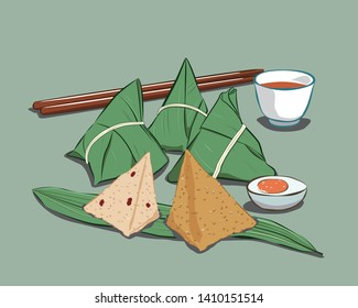 Dragon Boat Festival Zongzi Illustration Vector Map