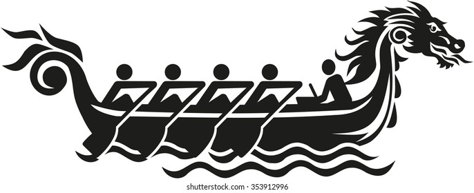 Dragon boat racing icon