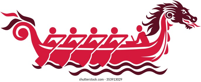 Dragon boat racing pictogram