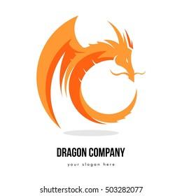 DRAGON BUSINESS COMPANY LOGO TEMPLATE EMBLEM