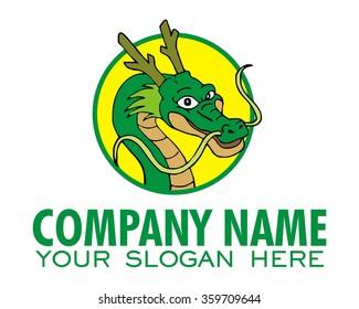 dragon character illustration logo icon vector