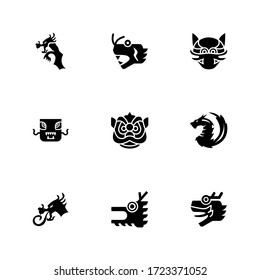 dragon Chinese icon or logo isolated sign symbol vector illustration - Collection of high quality black style vector icons
