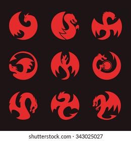 Dragon Circle Icon