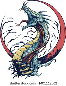 The Dragon design for tee.