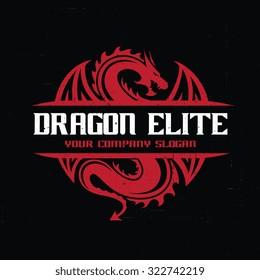 Dragon Elite Logo Template