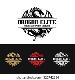 Dragon Eliter Logo Template