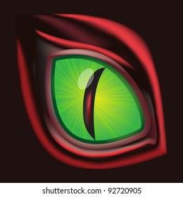 Dragon eye - original realistic vector illustration