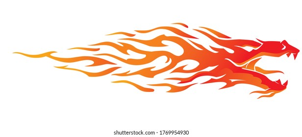 Dragon Fiery Abstract Flame Design