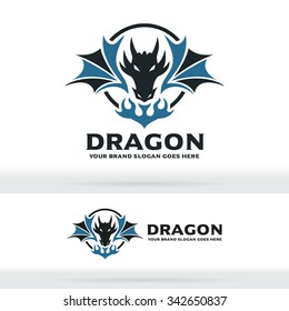 Dragon and Fire Logo