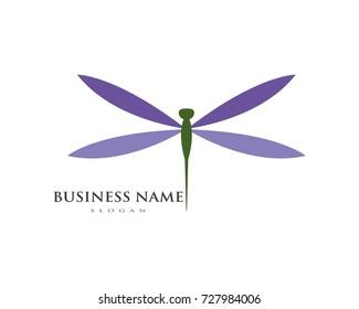 dragon fly logo icon vector