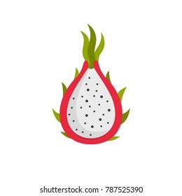 Dragon fruit icon. Flat illustration of dragon fruit vector icon isolated on white background