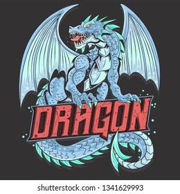 DRAGON FULL BODY VECTOR