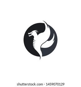 Dragon head logo template vector icon