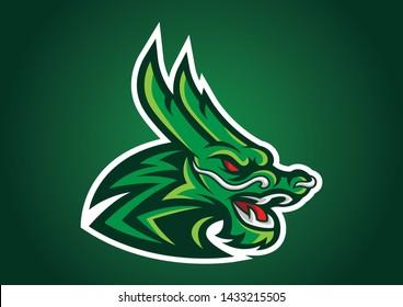 dragon head logofootball logo vector emblem illustration design idea creative sign