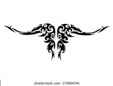 Dragon head tribal tattoo.