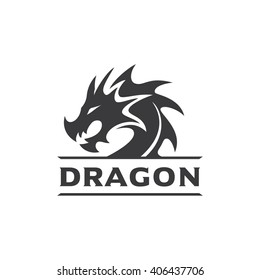Dragon Head Vector Logo