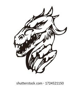 Dragon Head Vector Logo isolated