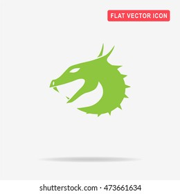 Dragon icon. Vector concept illustration for design.
