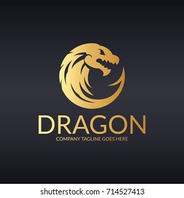 Dragon logo.  Easy to change size, color and text.