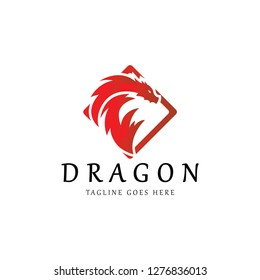 Dragon logo. Dragon fire icon. Vector illustration