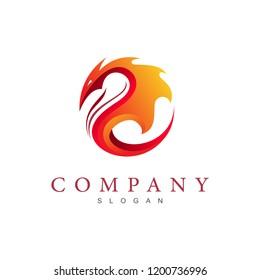 dragon logo, dragon head logo with a circular look + dragon and fire + game application icon ,china company icon