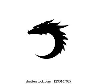 Dragon logo icon vector ilustration design