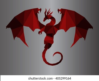 dragon logo shape