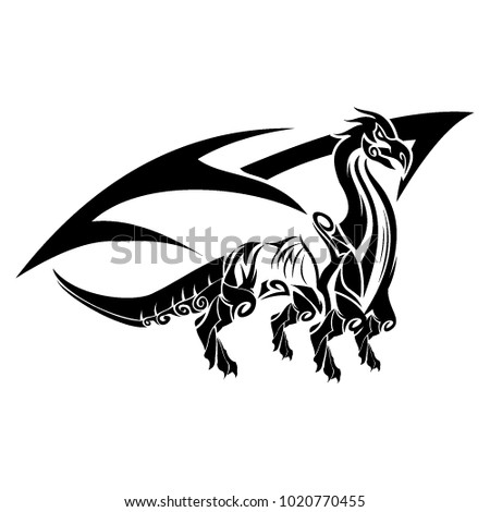 6e05328bd5c3b Dragon Logo Tattoo Stock Vector (Royalty Free) 1020770455 - Shutterstock