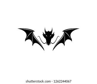 Dragon logo template vector illustration - Vector