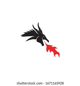 Dragon logo template vector illustration