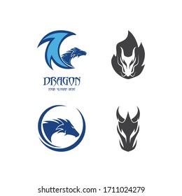 Dragon logo template vector illustration set