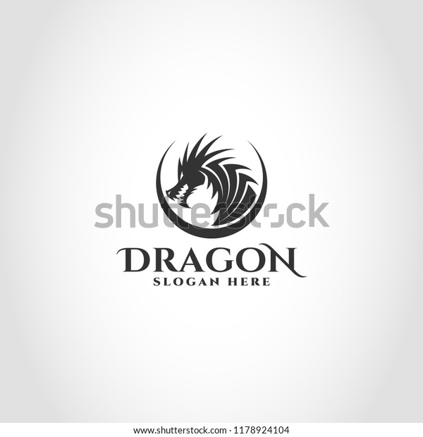 Dragon Logo Logo That Can Be Stock Vector (Royalty Free) 1178924104