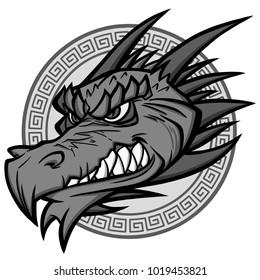 Dragon Mascot Illustration - A vector cartoon illustration of a Dragon Mascot.