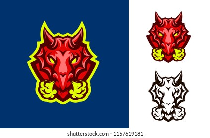 Dragon modern sports logo mascot template
