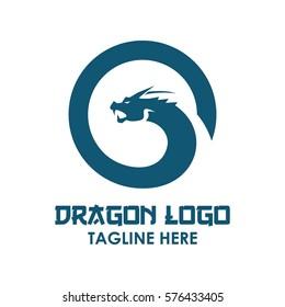 Dragon, Monster snake logo design concept