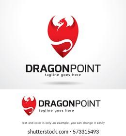 Dragon Point Logo Template Design Vector