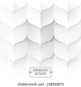 dragon scales, white background texture, eps10 vector