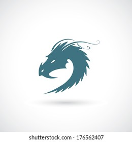 Dragon sign - vector illustration