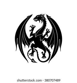 Dragon silhouette. Vector illustration