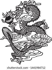 dragon tattoo art vector abstract