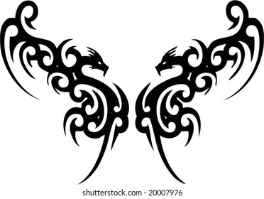 Tattoos dragon pictures tribal 25 Best
