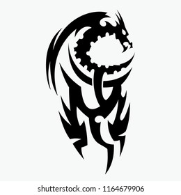 Dragon vector illustration design, for tattoo designs and other designs. easy to use and editable according to your needs.