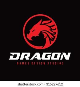 Dragon Vector Logo Template.