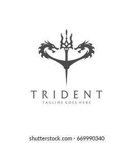 Dragon weapon. Trident logo