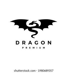 dragon wing logo vector icon illustration