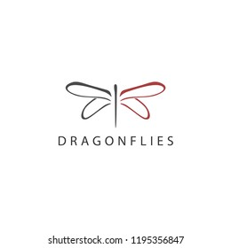 Dragonflies Logo Template