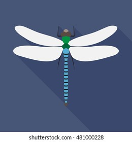 dragonfly flat icon. You can be used dragonfly icon for several purposes like: websites, UI, UX, print templates, promotional materials, info-graphics, web and mobile phone apps.