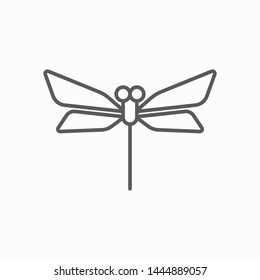 dragonfly icon, animal vector, insect illustration